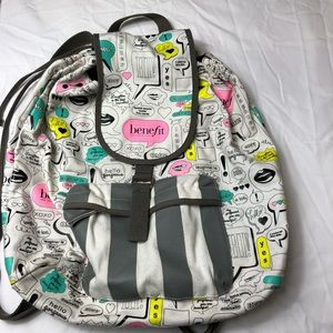 3/$30 Benefit Cosmetics canvas backpack